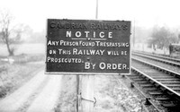 Cambrian Railway Trespass sign 1965-01-30 Pant